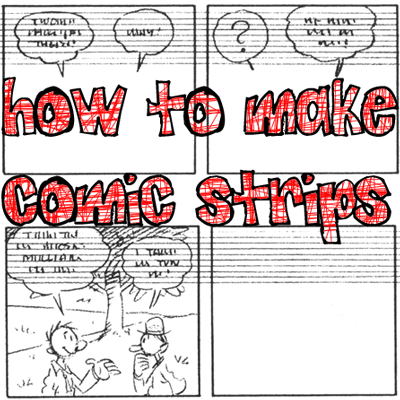 how to make comic strip in computer