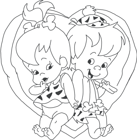 How To Draw Pebbles And Bam Bam From The Flinstones In