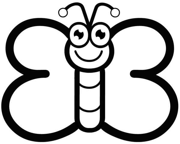 Color By Number Butterfly. animal color by number coloring pages ...