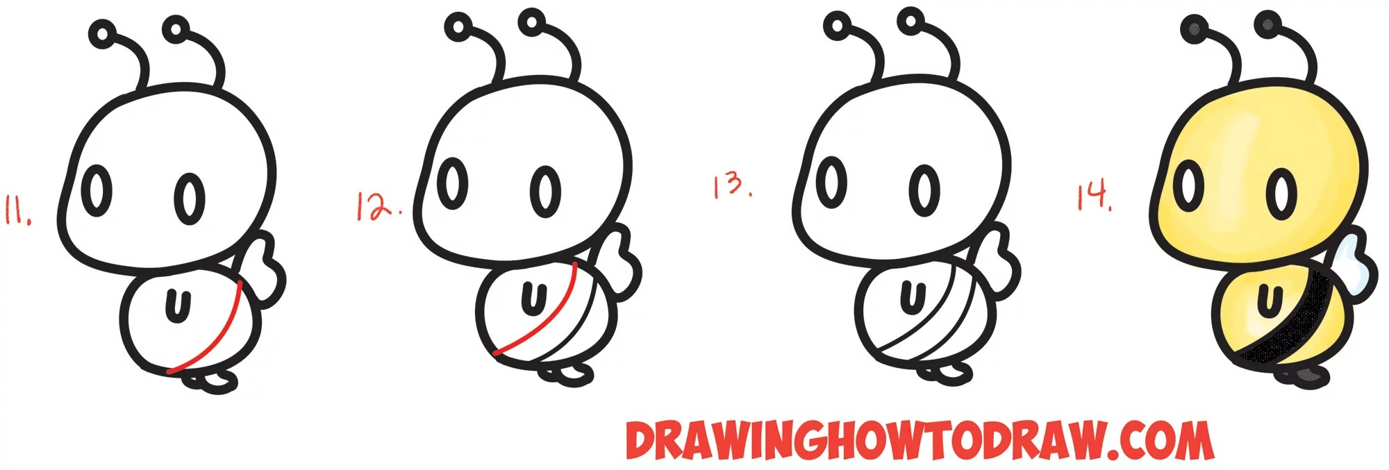 Cartoon Easy Cute Drawing Bee Pictures Www Picturesboss Com