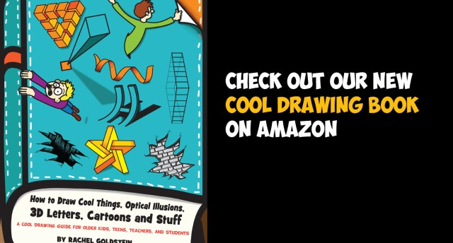 kids drawing book for learning how to draw cool stuff, things, optical illusions
