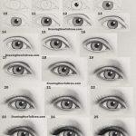 How To Draw An Eye Realistic Female Eye Step By Step Drawing Tutorial How To Draw Step By Step Drawing Tutorials