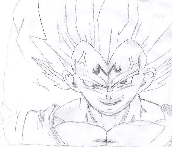 Dragon Ball Z Majin Vegeta Drawing Hd Wallpaper Gallery