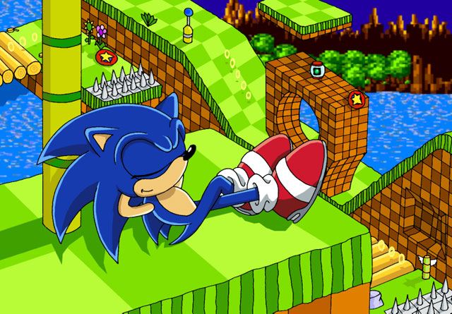 Sonic Resting In Green Hills Picture By Cocheese