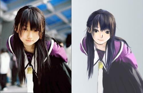 Real Girl Into ANIME VERSION Picture By HinataHyuuga