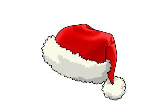 Image result for santa hat drawing