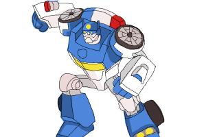 How To Draw Chase From Transformers Rescue Bots DrawingNow