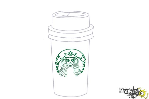 how to draw a starbucks cup  drawingnow