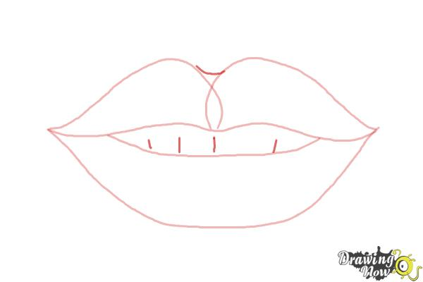 How To Draw Female Lips Drawingnow
