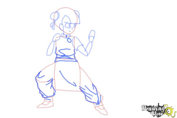 How To Draw A Manga Girl Fighting Pose DrawingNow
