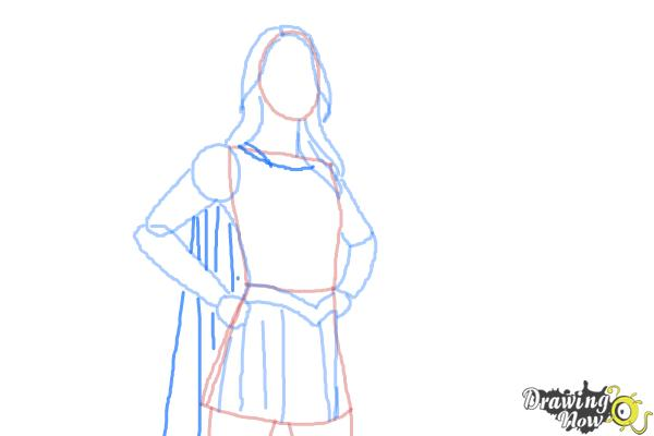 How To Draw Supergirl 2015 DrawingNow
