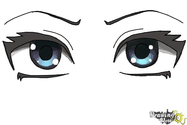 How to Draw Anime Eyes Step by Step   DrawingNow How to Draw Anime Eyes Step by Step   Step 8