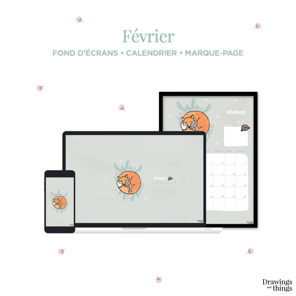 Free Wallpaper & Printables by Drawingsandthings pour le mois de Février 2018