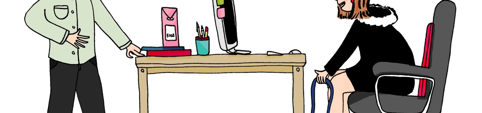 Etre en retard au boulot - Illustration by Drawingsandthings pour FourchetteBikini