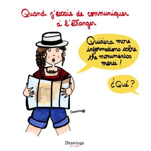 Parler à l'étranger - Je suis nulle en langues - by Drawingsandthings