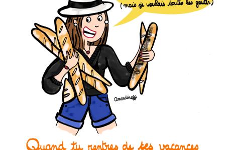 Illustration de Drawings and things. Manger du pain c'est la vie
