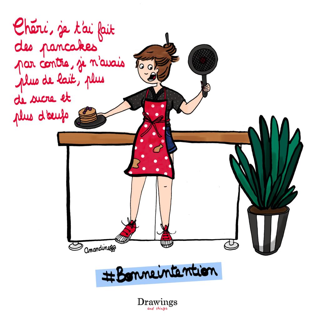 Faites des pancakes, mais suivez la recette ! - Illustration by Drawingsandthings