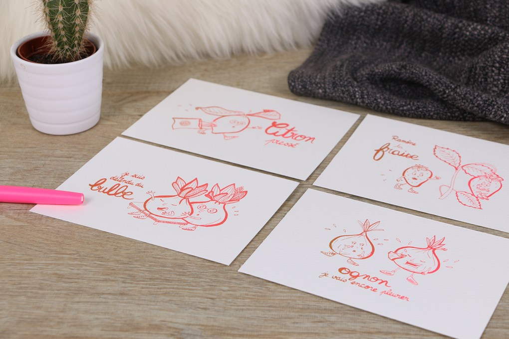 Gagnez des cartes postales fruits & légumes by Drawings and things