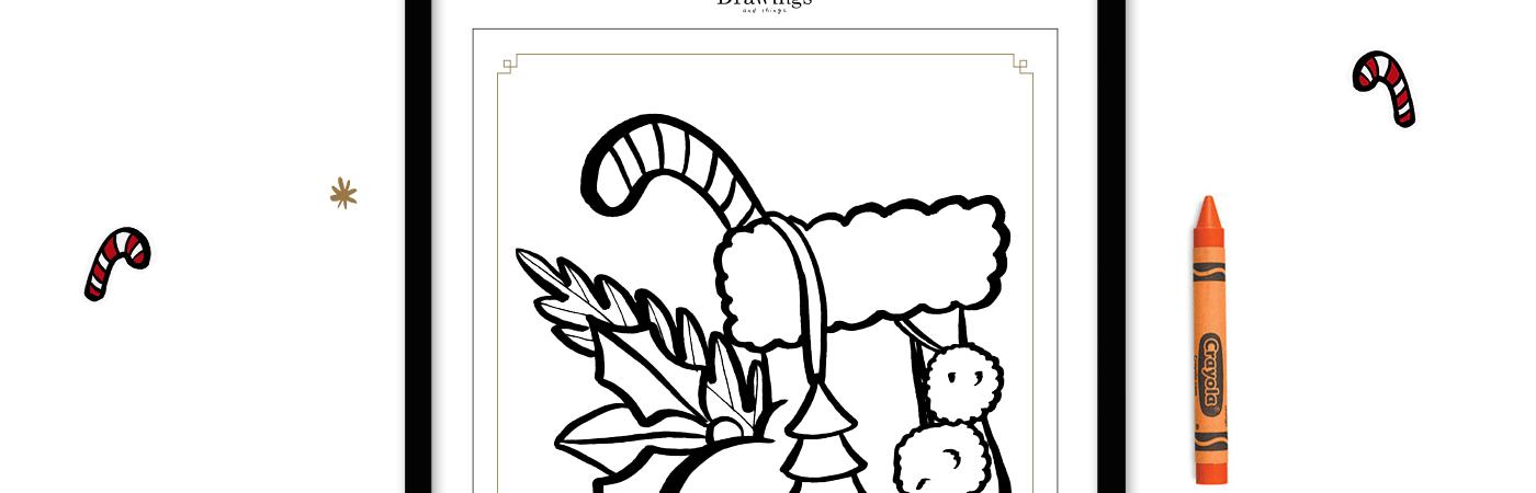 Un jeu-coloriage à télécharger sur Drawings and things