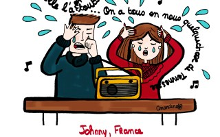 Johnny Hallyday et France Gall - Illustration by Drawingsandthings