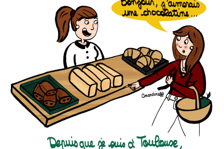 Pain au chocolat ou chocolatine - Illustration-by Drawingsandthings