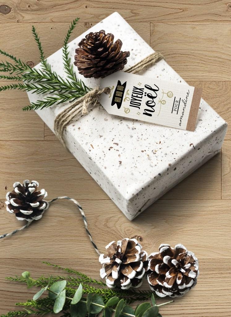 Téléchargez des étiquettes cadeaux. Un printable en téléchargement gratuit sur le blog