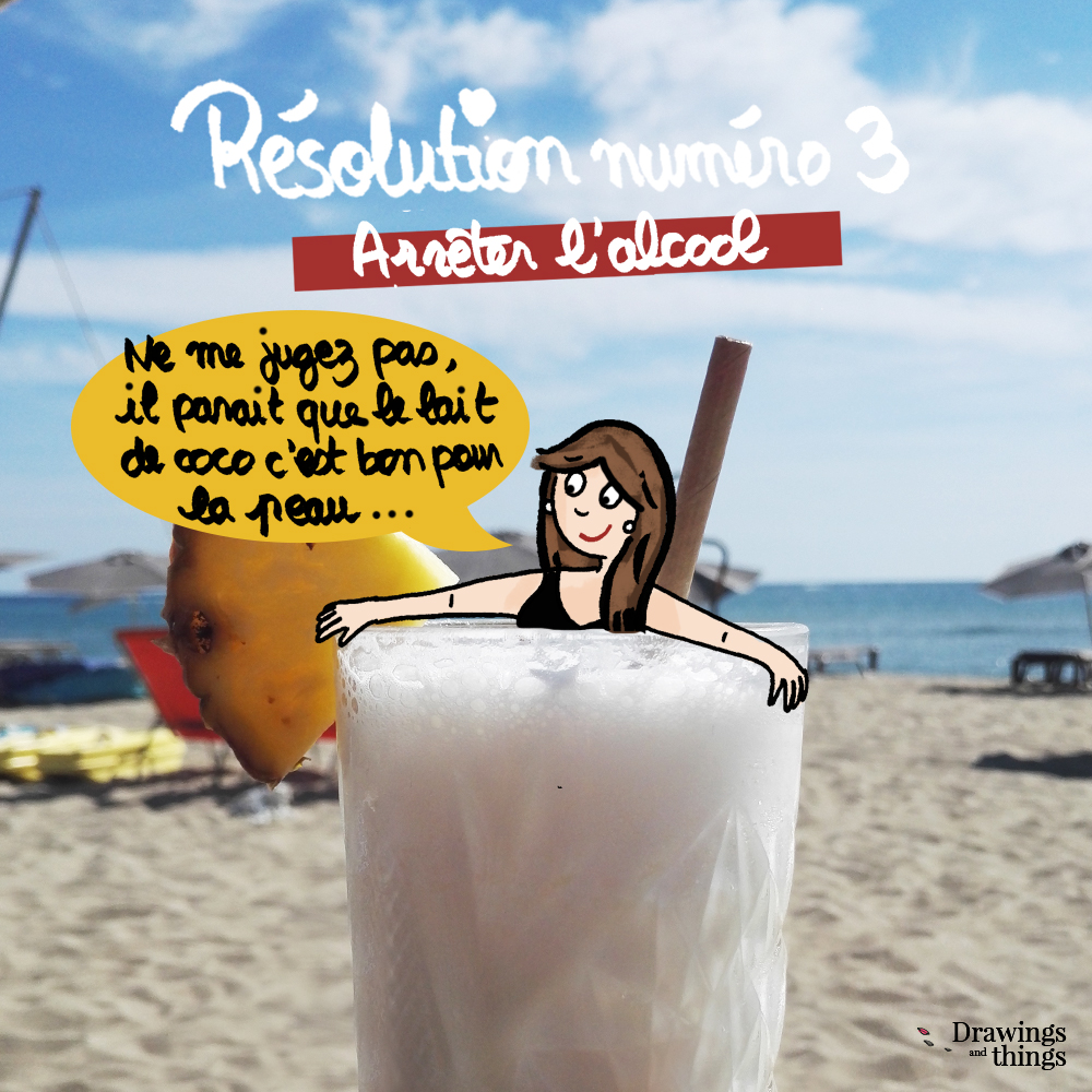 Résolutions-2019_Arreter-l-alcool-Illustration-by-Drawingsandthings