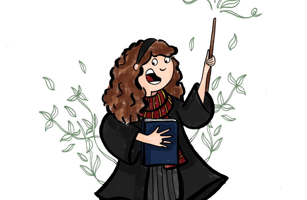 Harry-Potter-Challenge-Hermione-Ron-Illustration-by-Drawingsandthings