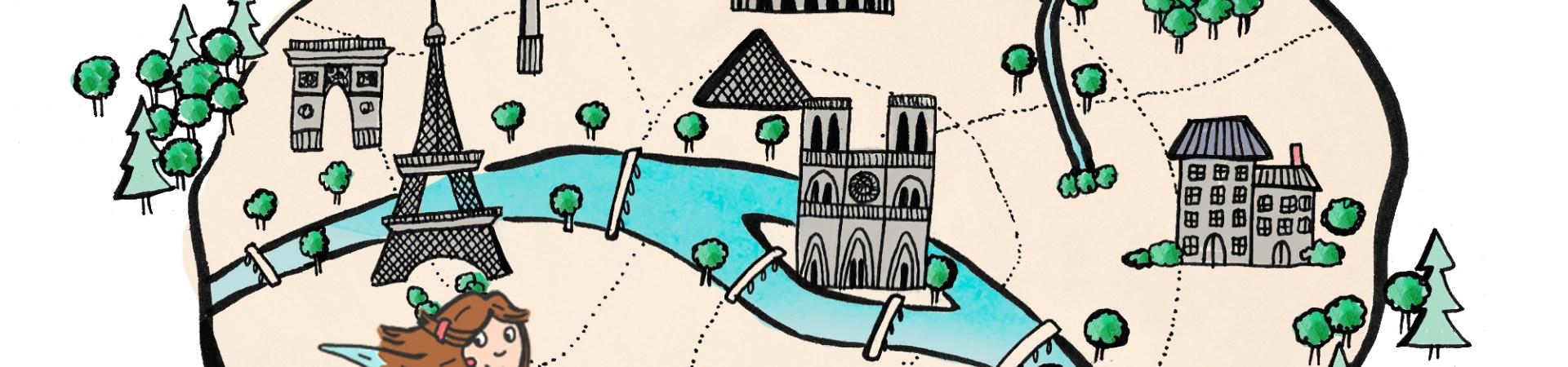 Découvrez mes bonnes adresses de Paris à travers une carte illustrée - by-Drawingsandthings