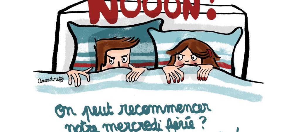 Recommencer-le-mercredi-ferie-on-etait-pas-prets_Illustration-by-Drawingsandthings