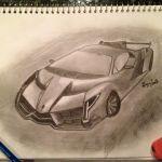 Lamborghini Drawing Pencil Sketch Colorful Realistic Art Images Drawing Skill