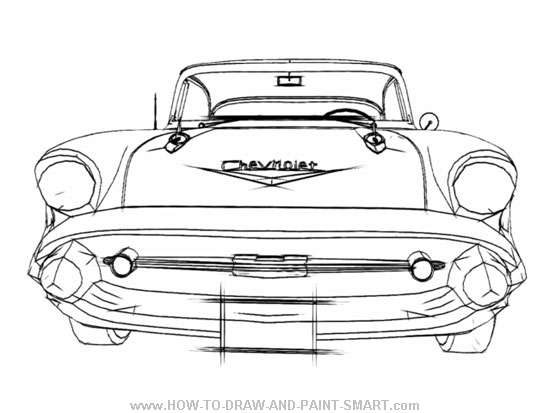 67 chevy impala coloring pages