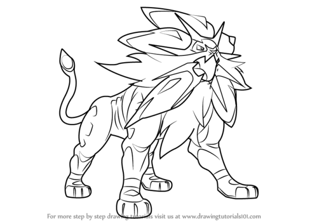 How to draw pokemon how to learn how to draw solgaleo from pokemon sun and moon pokmon thecheapjerseys Gallery
