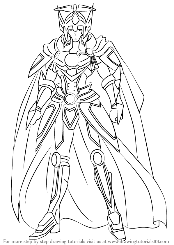 Learn How To Draw Solitary Knight Gancelot From Cardfight