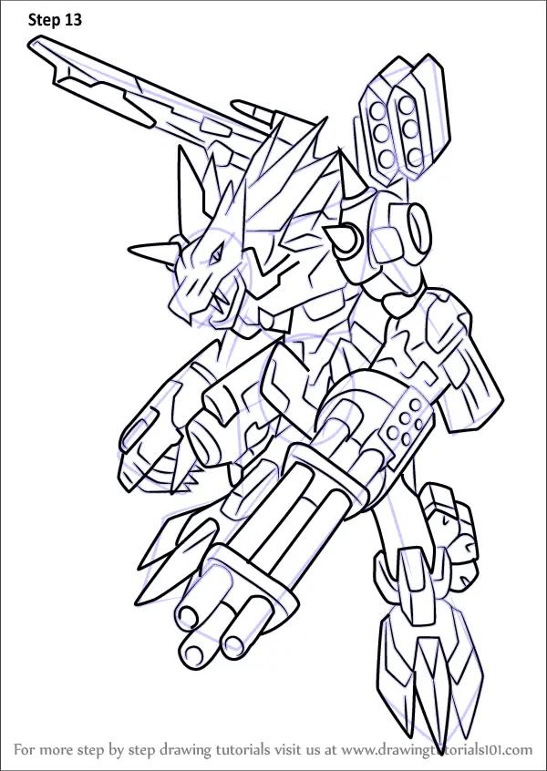 Learn How To Draw MetalGarurumon X Antibody From Digimon