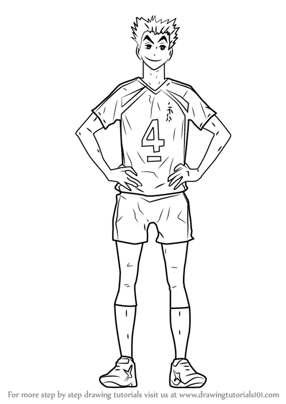 to draw bokuto kotarou from haikyuu