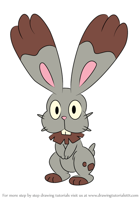 Learn How To Draw Bunnelby From Pokemon Pokemon Step By