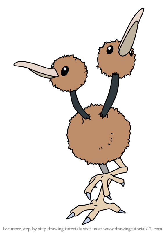 Learn How To Draw Doduo From Pokemon Pokemon Step By