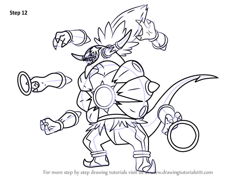 Learn How To Draw Hoopa Unbound From Pokemon Pokemon