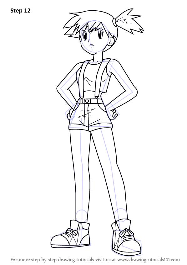 Learn How To Draw Misty Aka Kasumi From Pokemon Pokemon