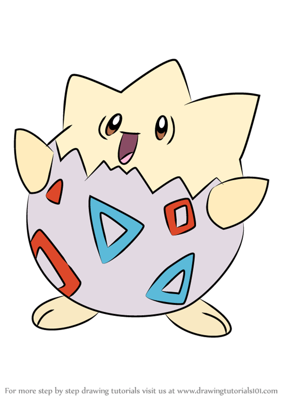Learn How To Draw Togepi From Pokemon Pokemon Step By Step Drawing Tutorials