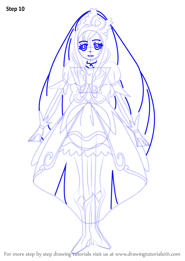 Learn How To Draw Cure Ace From Pretty Cure Pretty Cure
