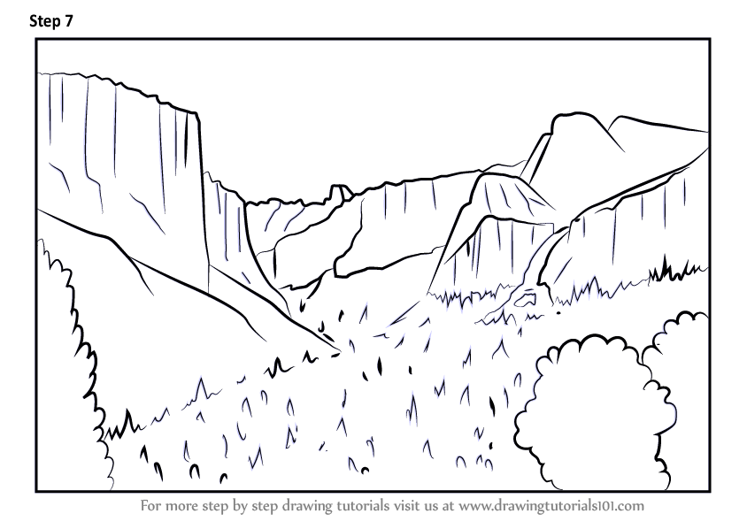 Learn How To Draw Yosemite National Park California Parks