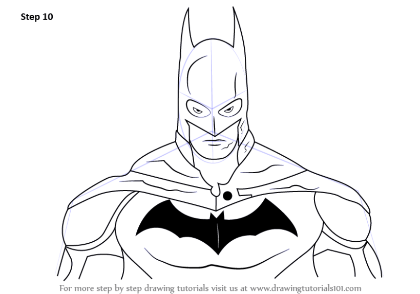 how to draw armored batman step by step