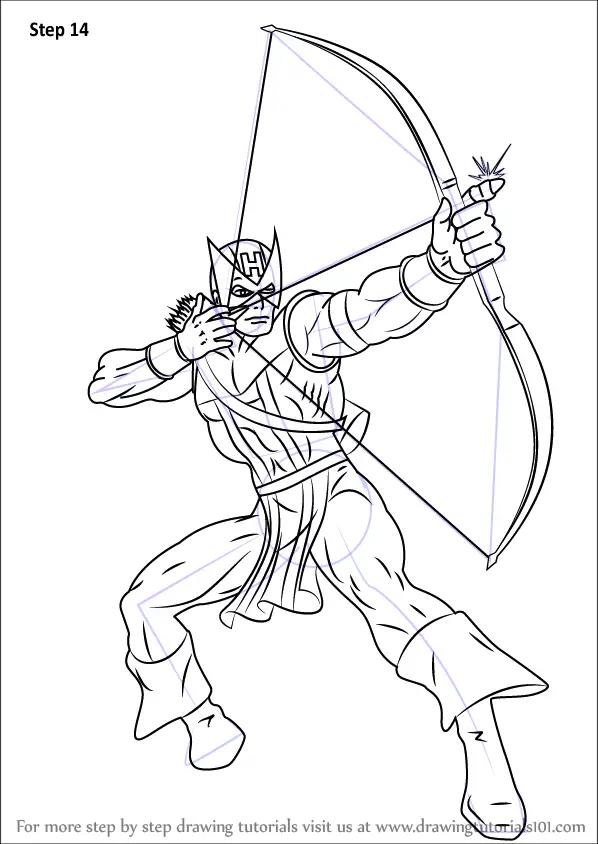 Learn How To Draw Hawkeye Hawkeye Step By Step Drawing