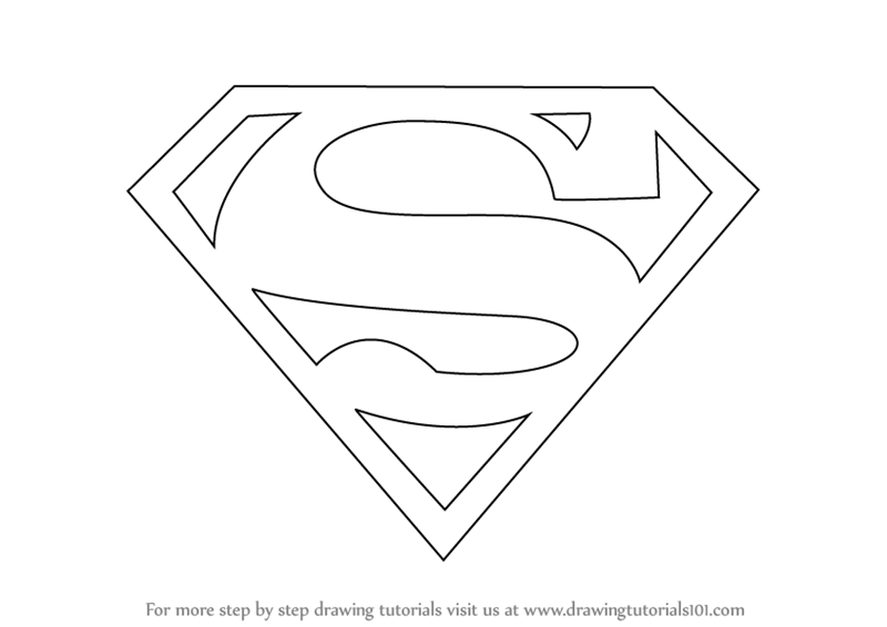 Learn How To Draw Superman Symbol Superman Step By Step
