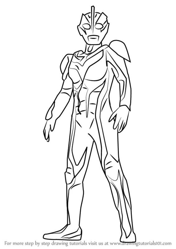 Learn How To Draw Dark Zagi Ultraman Step By Step