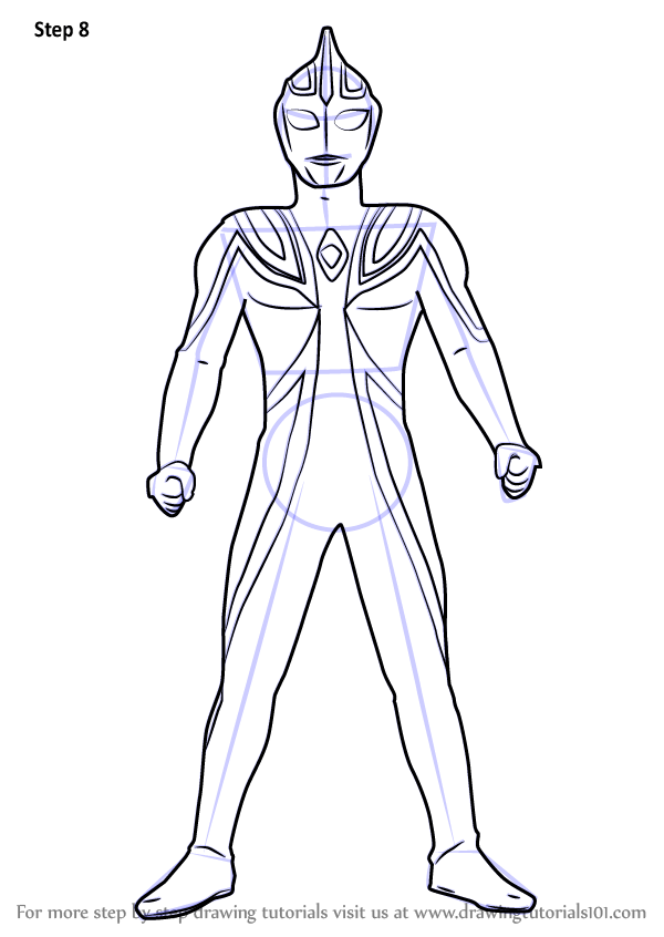 Learn How To Draw Ultraman Agul Ultraman Step By Step Drawing Tutorials