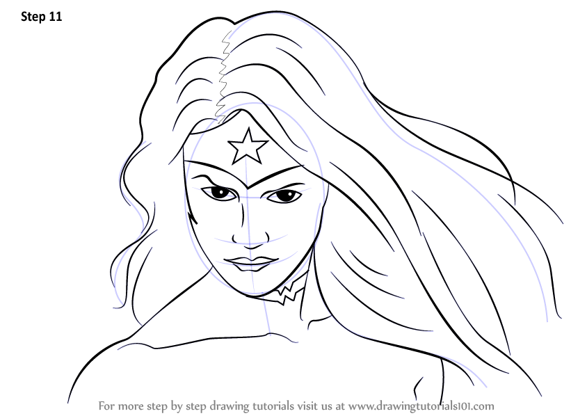 Learn How To Draw Wonder Woman Face Wonder Woman Step By