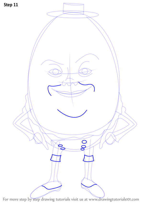 Learn How To Draw Humpty Alexander Dumpty From Puss In
